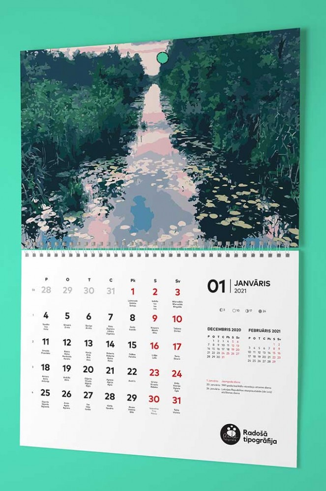 wall calendar making