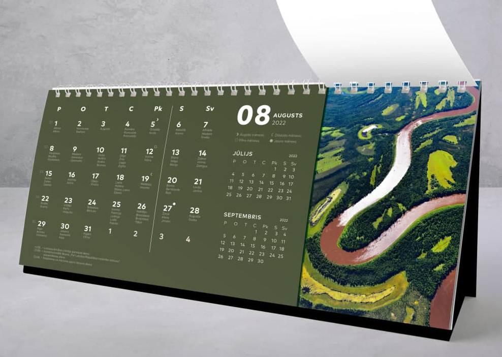 Dizaina kalendāru izgatavošana