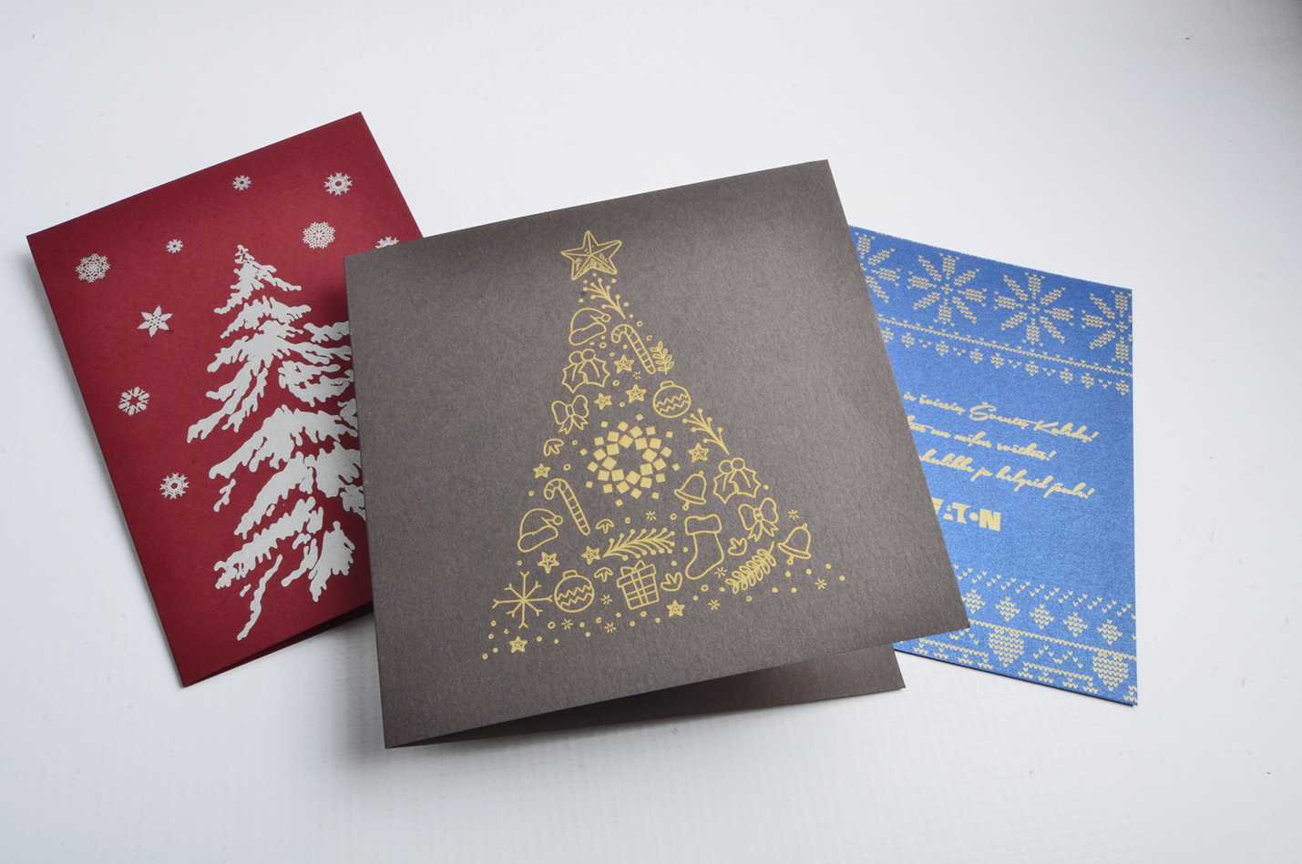 Card printing with gold, silver white