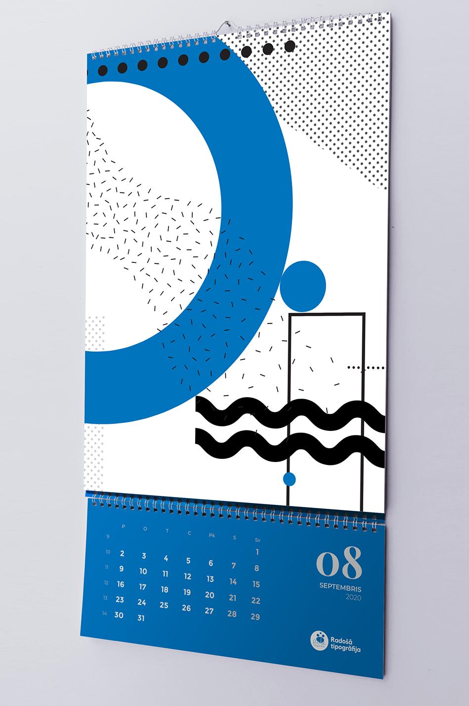 Ekskluzīva sienas kalendāra druka 2020.