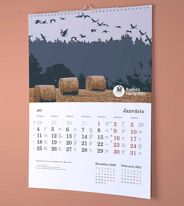 Calendar with your pictures 2021