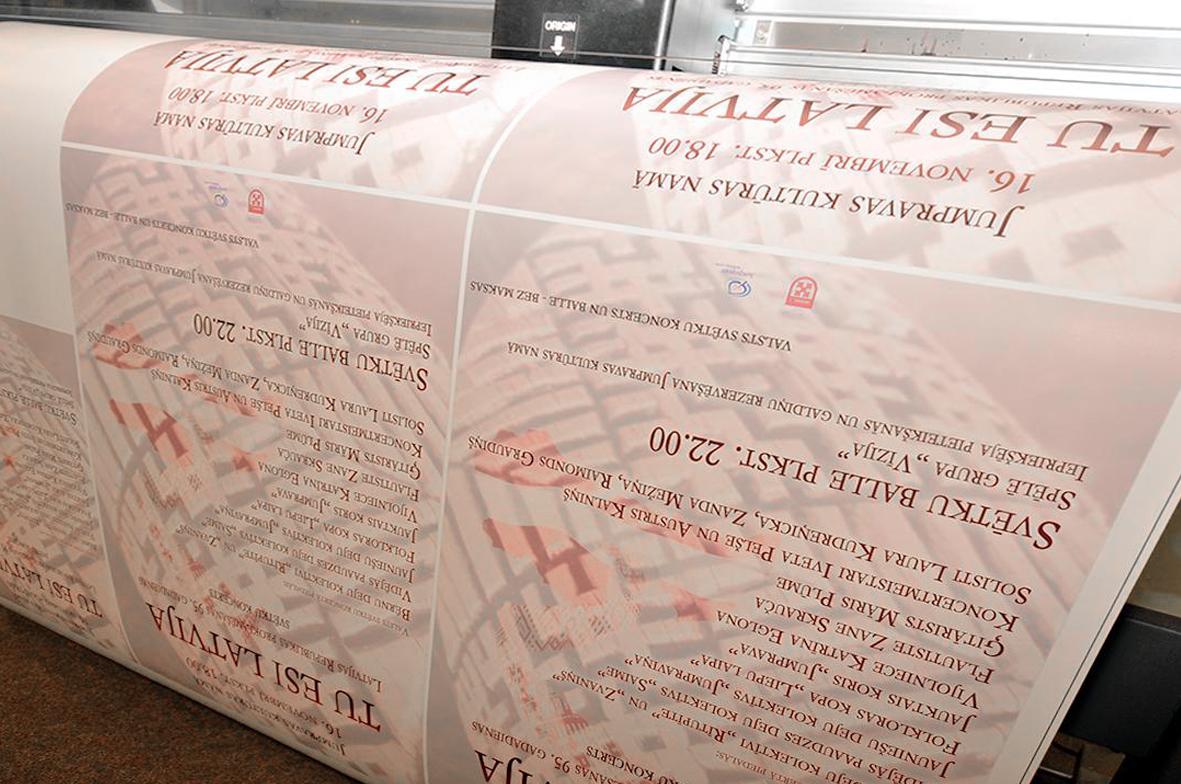 lielformāta plakātu druka