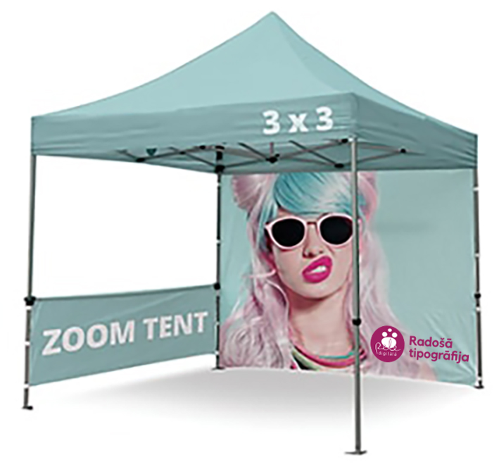 Tent with print