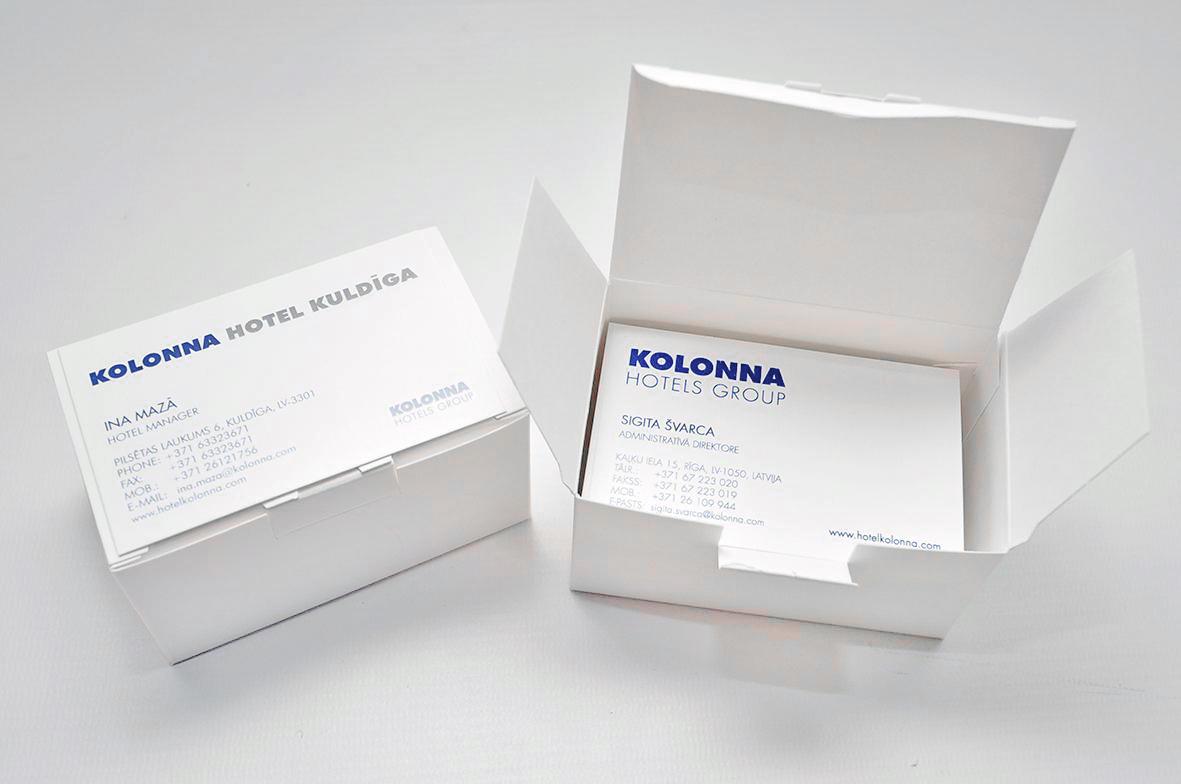 kvalitatīvas vizītkartes digitālā drukā