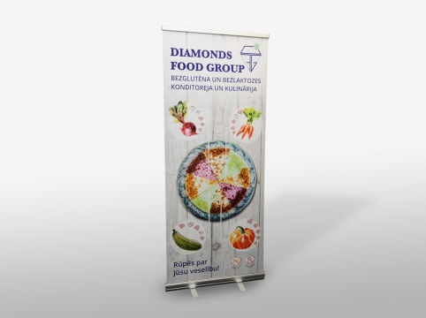 Diamonds food group roll-up banera dizains.