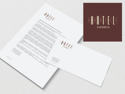 Hotel Dobele logo izstrāde un vizītkaršu dizains