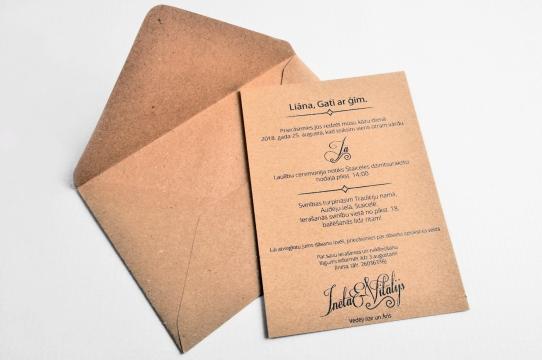 Kāzu ielūgumi dizains un druka