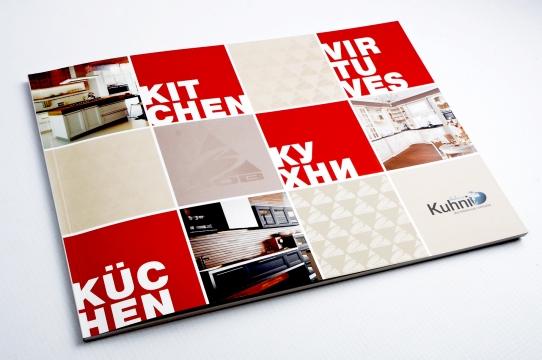 Kuhni virtuves mēbeles ražotāja produktu kataloga dizaina izstrāde