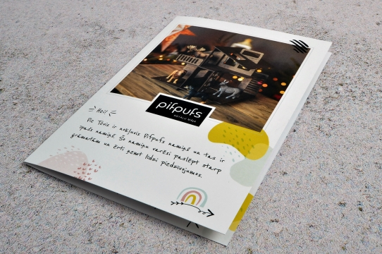 Booklet design for PifPuf house.