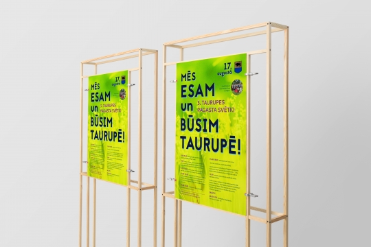 Taurupe poster design development