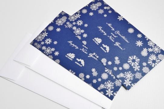 Ziemassvētku kartiņas ar aploksnēm izgatavošana