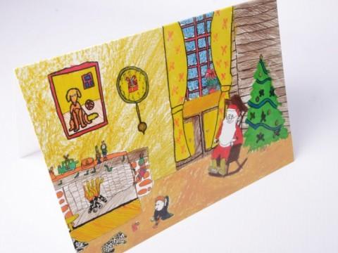 child-drawn postcards