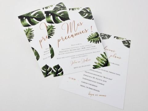 kāzu ielūgumi, druka