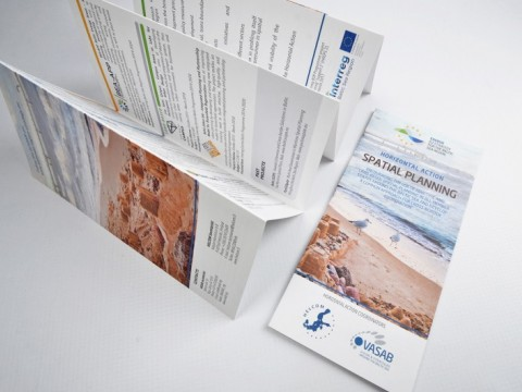 folded booklets, graphic design