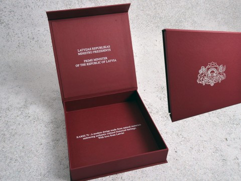 Production of an exclusive box