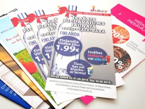 Leaflets digital print