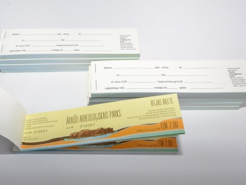 tickets printing, binding