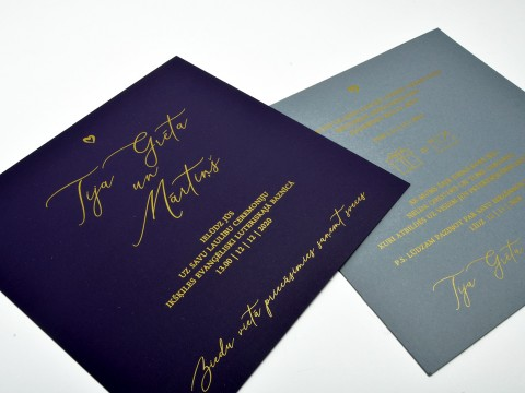 Invitation printing with gold