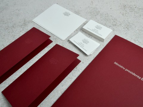 Stationery representative materials, printing