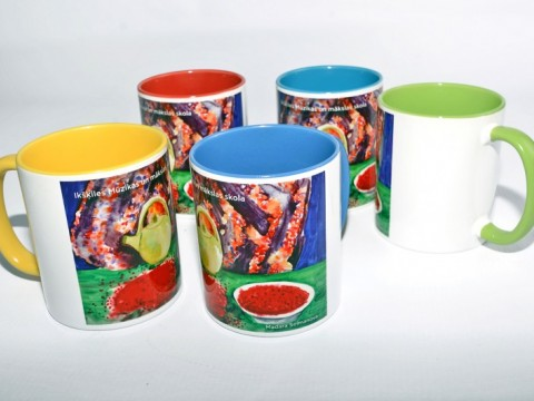 cups, mugs in sublimation