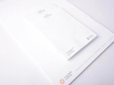 Corporative notebooks printing