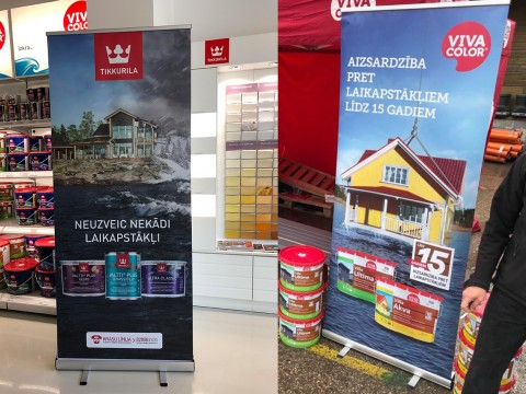 Roll-up stand with print