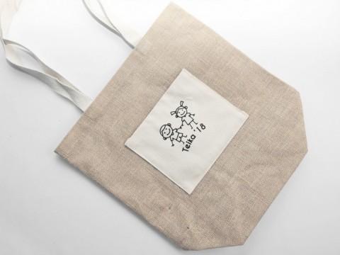 džuta maisiņš ar apdruku