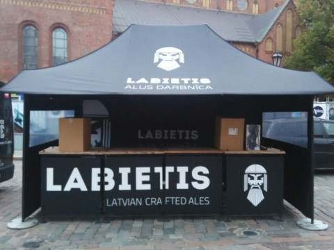 Tent printing, exhibition stand