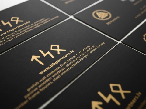 Business card printing with gold color