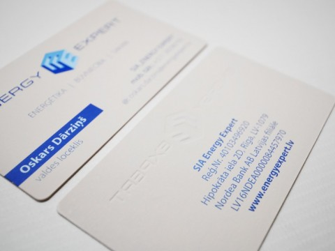 embosing business cards