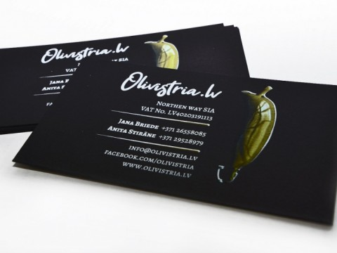 Business cards digital printing with white color