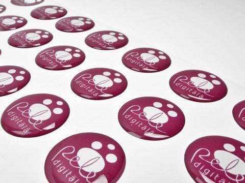 round polymer 3D stickers