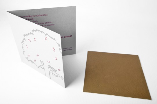 Embossed printing, silkscreen, cards