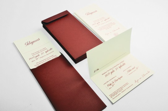 Wedding invitations, production, printing