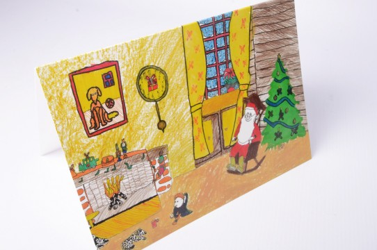 child-drawn postcards