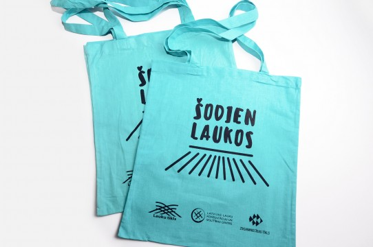 cotton bags with imprinting in silkscreen