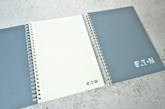 Notebooks with spiral printing
