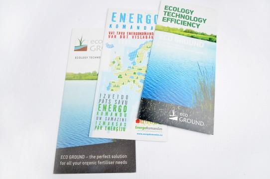 печать буклета на экологически чистой бумаге