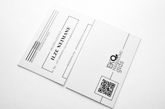 Production of eco paper business cards