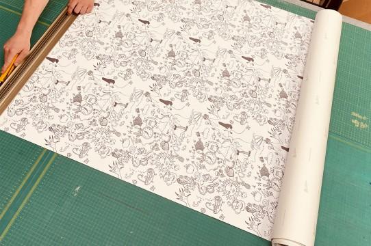 Photo wallpaper printing