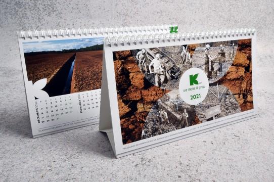 Production of desk calendars