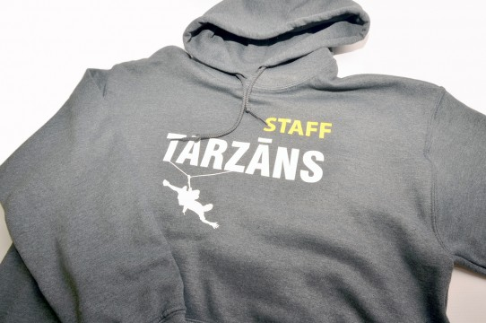Hoodies with decoration in screen print