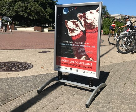 Street poster stand