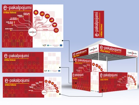 Tent, exhibition stand, design and printing