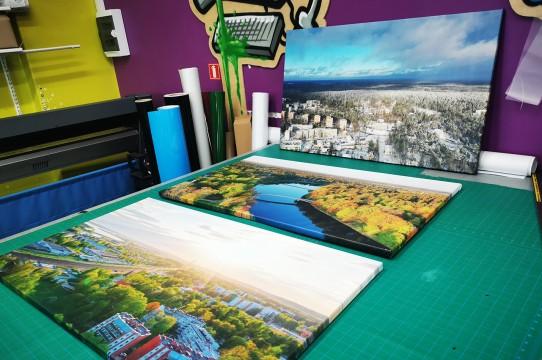 Canvas production
