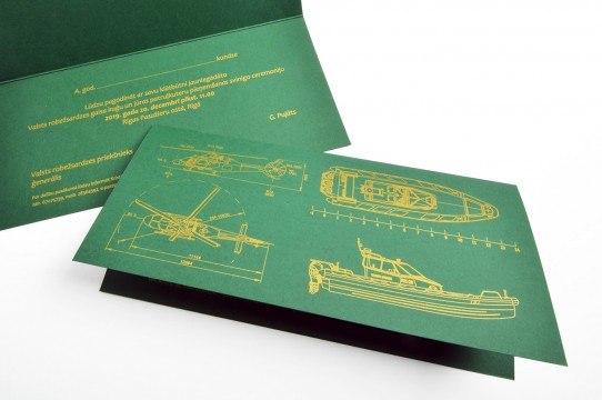 Postcard printing with gold