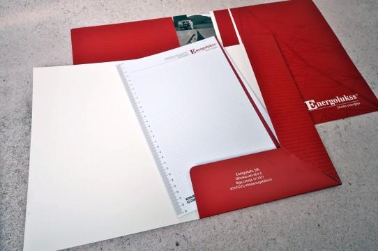 Cardboard folders, letterhead printing
