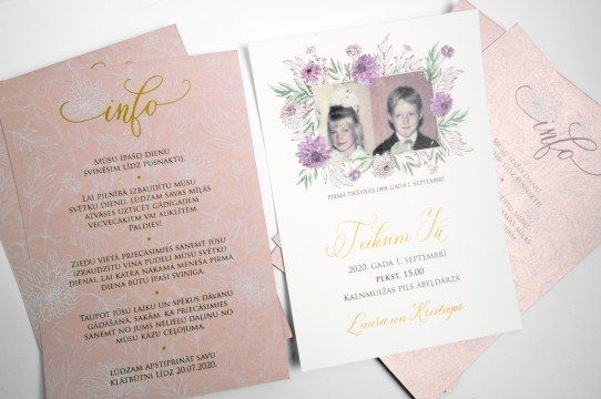 Wedding invitations production