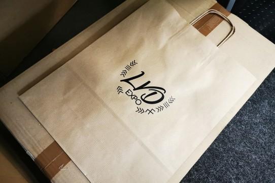Craft paper bag printing
