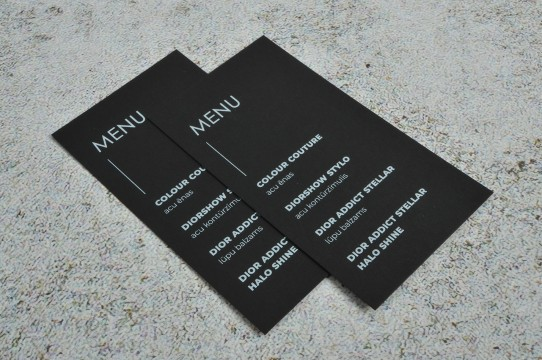 Black business card printing